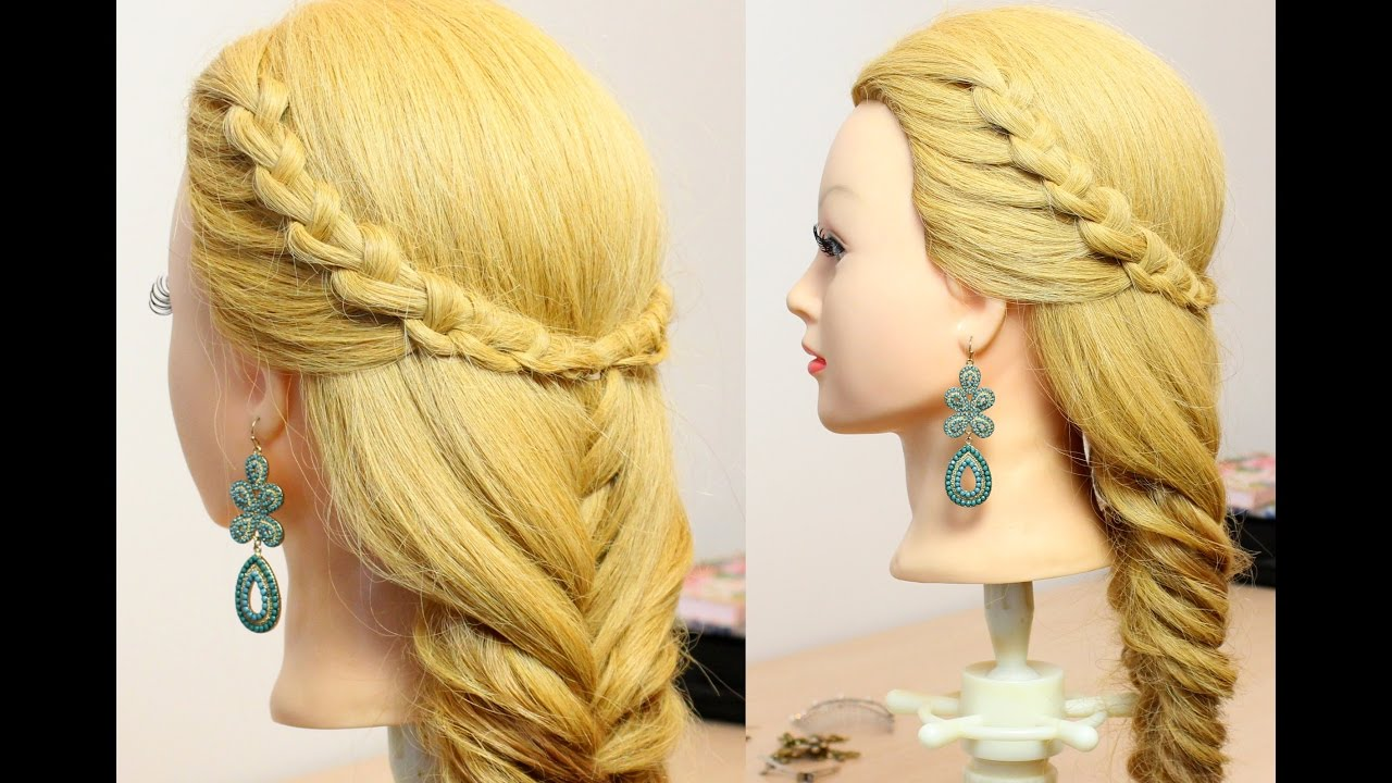 Hairstyle for long hair tutorial. Easy and Quick Braids ...