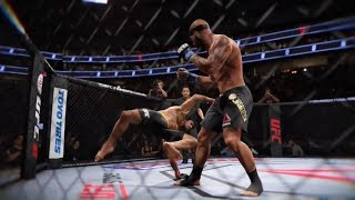 Bruce Lee vs. Lebron James (EA Sports UFC 2) - CPU vs. CPU