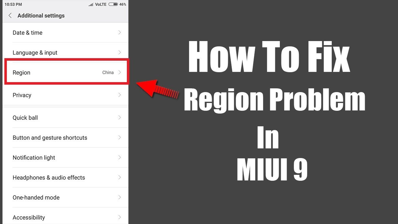 How To Fix Region Problem In Miui 9 2017 Youtube