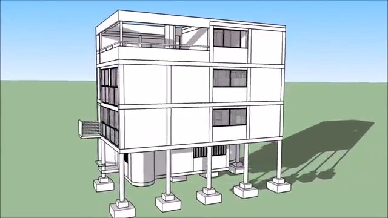 Casa citrohan prototipo 5 youtube - Casas de le corbusier ...