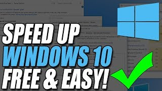 8 Tips to Speed Up Windows 10 Performance EASY Tutorial
