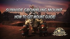 How To Get Sunhide Gronnling Mount Guide - Poundfist Rare Spawn Time and Location