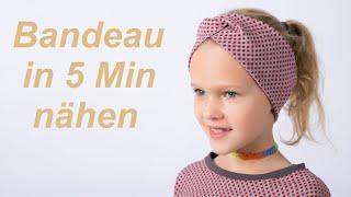 DIY Stirnband Bandeau Haarband nähen für Anfänger Nähanleitung
