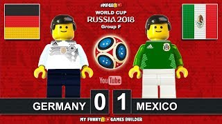 Germany vs Mexico 0-1 • World Cup 2018 (17/06/2018) All Goals Highlights Lego Football (Deutschland)