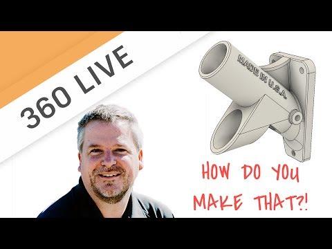 360 LIVE: Design a 3d Printed Flag Pole Mount