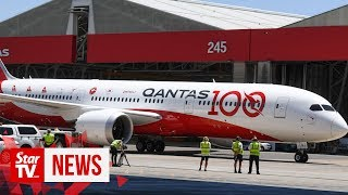 Qantas Airways double sunrise flight completes 19-hour non-stop test flight from London to Sydney