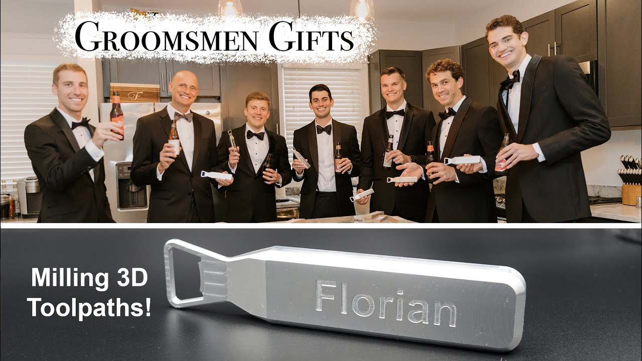 Download Machining Groomsmen Gifts for My Wedding (w/ 3D Toolpaths and Soft Jaws)