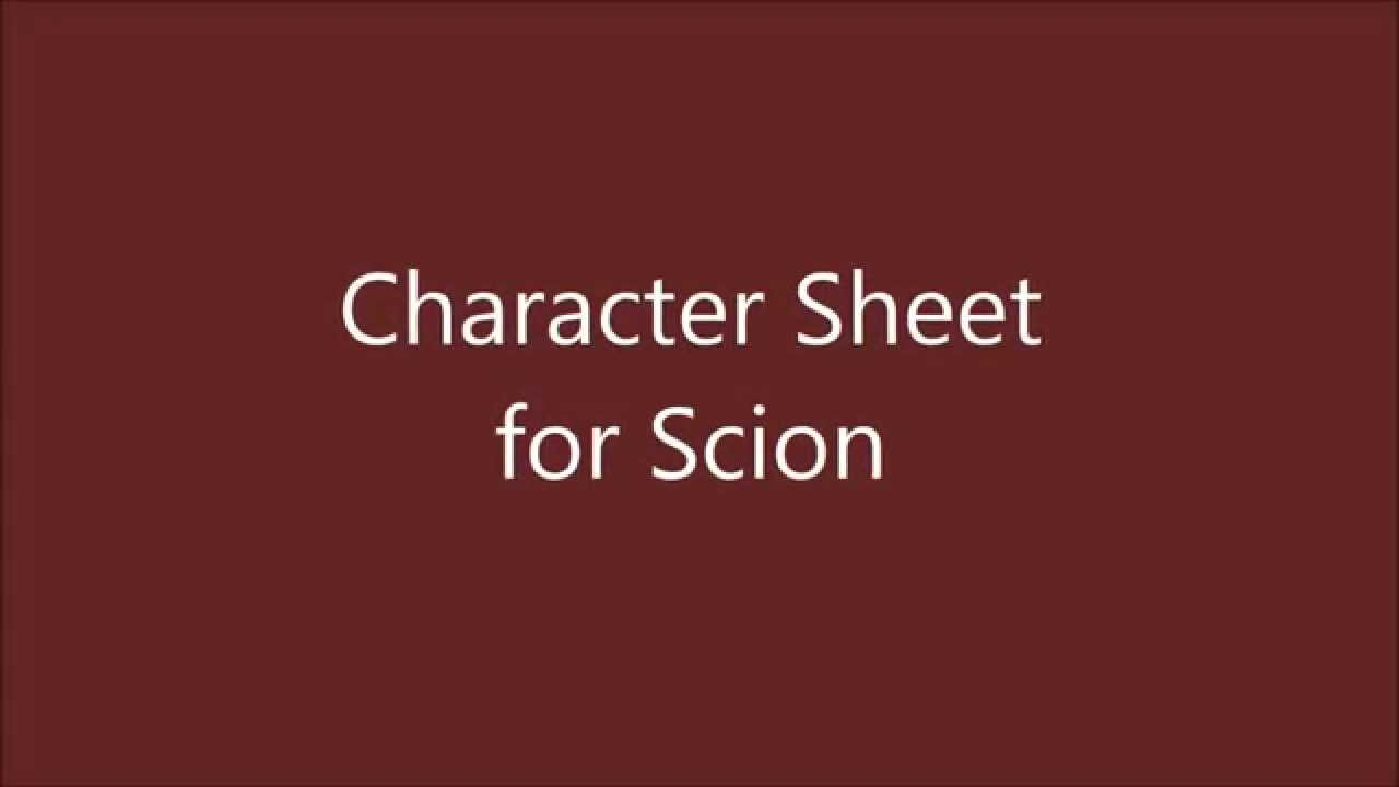 My Rpg Vlog 07 Character Sheet For Scion Part 4 Youtube