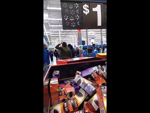 Woman Goes Crazy in a Walmart in New Jersey