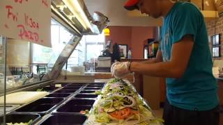 Making a 3 foot party sub (280% speed)