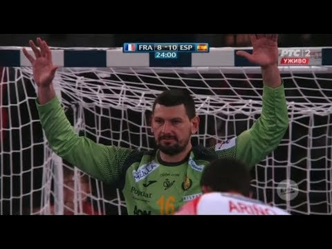 France vs Spain | Arpad STERBIK | Three defenses from the penalty | EHF EURO 2018
