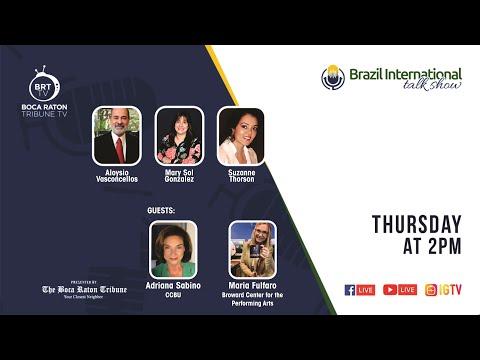 Brazil International talk show, with Adriana Sabino and Maria Fulfaro