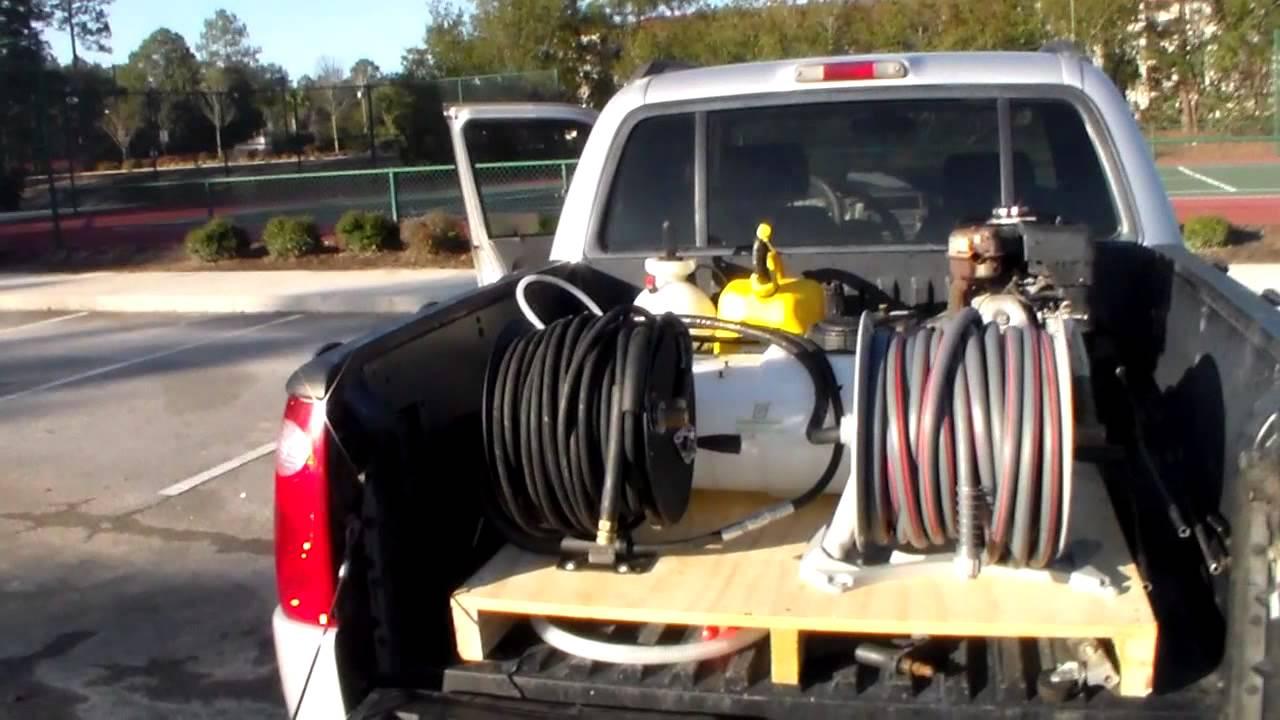 Truck Bed Pressure Wash Set Up House Wash Set Up Youtube