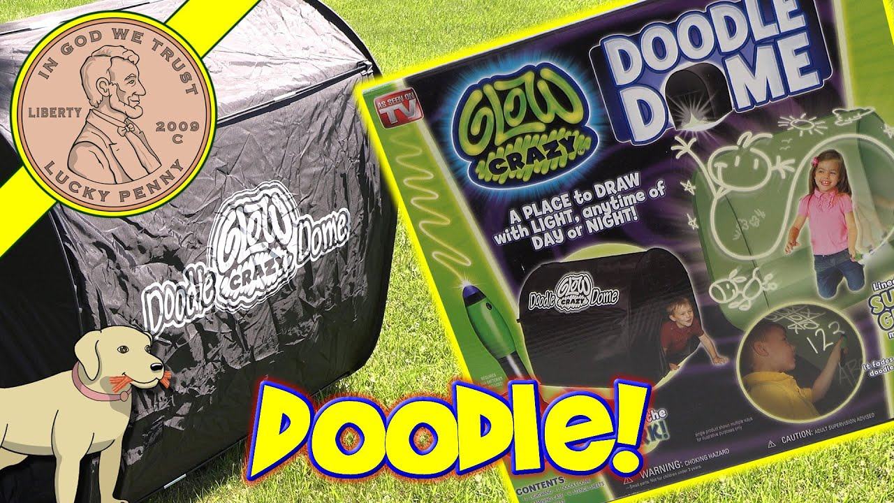Glow Crazy Doodle Dome! Glow In The Dark Drawing Fun : doodle dome tent - memphite.com