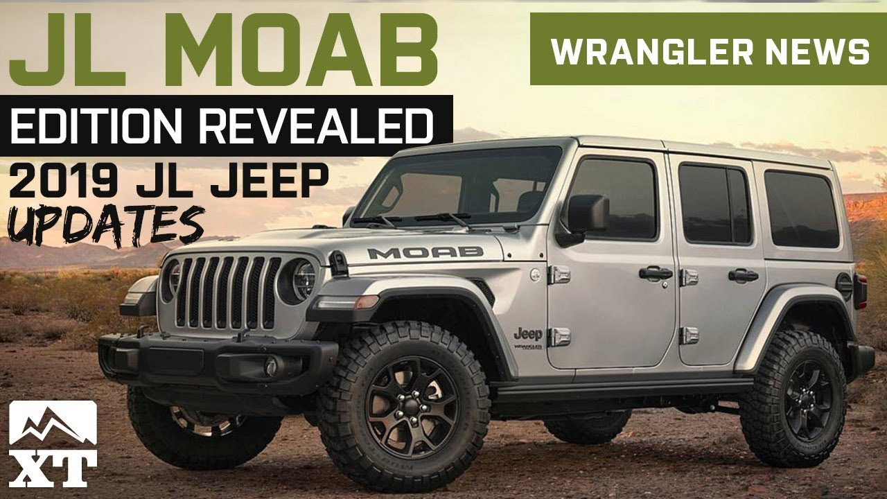 2019 JL Wrangler Updates and Colors | Jeep JL MOAB Edition ...
