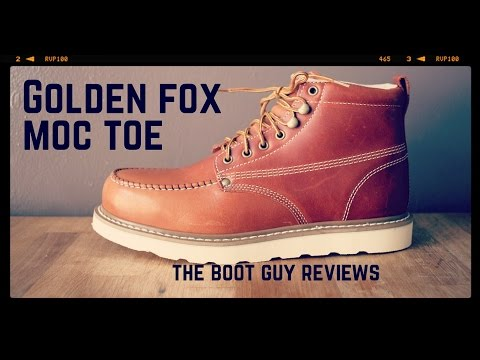"Golden Fox 6"" Moc Toe Wedge Work Boot [ The Boot Guy Reviews ]"