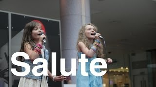 Little Mix - Salute - 11 year old Sapphire & 8 year old Skye - cover