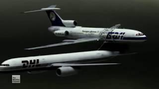 Bashkirian Airlines Flight 2937/DHL Flight 611 - Crash Animation 3