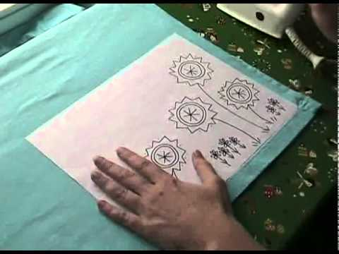 How To Transfer An Embroidery Pattern Youtube