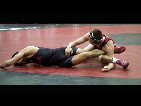 Hodges Vs Blanton - Slow Motion College Wrestling 149