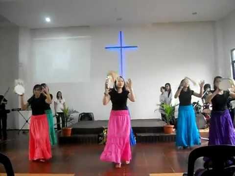 tambourine dance (CHURCH ON FIRE) - YouTube
