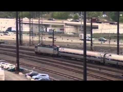 Amtrak AEM7 907 pulling Pennsylvanian train #42