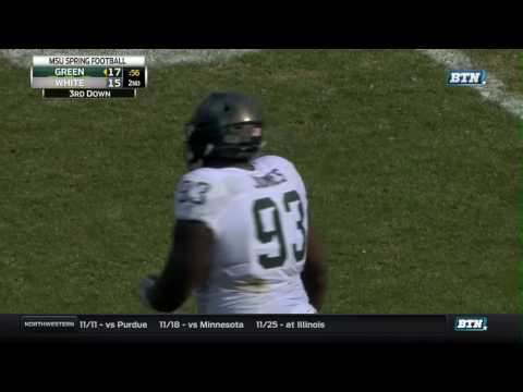 Michigan State Spring Football Highlights