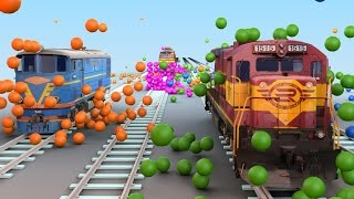VIDS for KIDS in 3d (HD) - Trains for Children wrecking Balls Fun - AApV