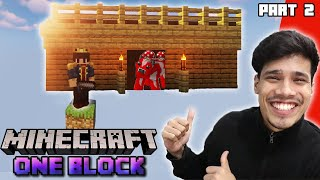 I Made A House & A New Friend | Minecraft One Block Series Part 2