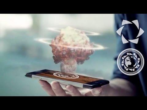 Teléfono celular con pantalla HOLOGRÁFICA!