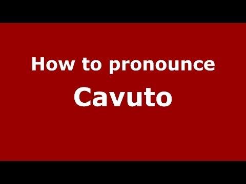 How to pronounce Cavuto (Italian/Italy)  - PronounceNames.com