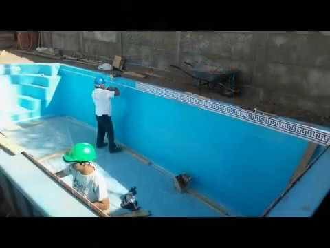instalacion piscinas de fibra de vidrio fonopiscinas youtube