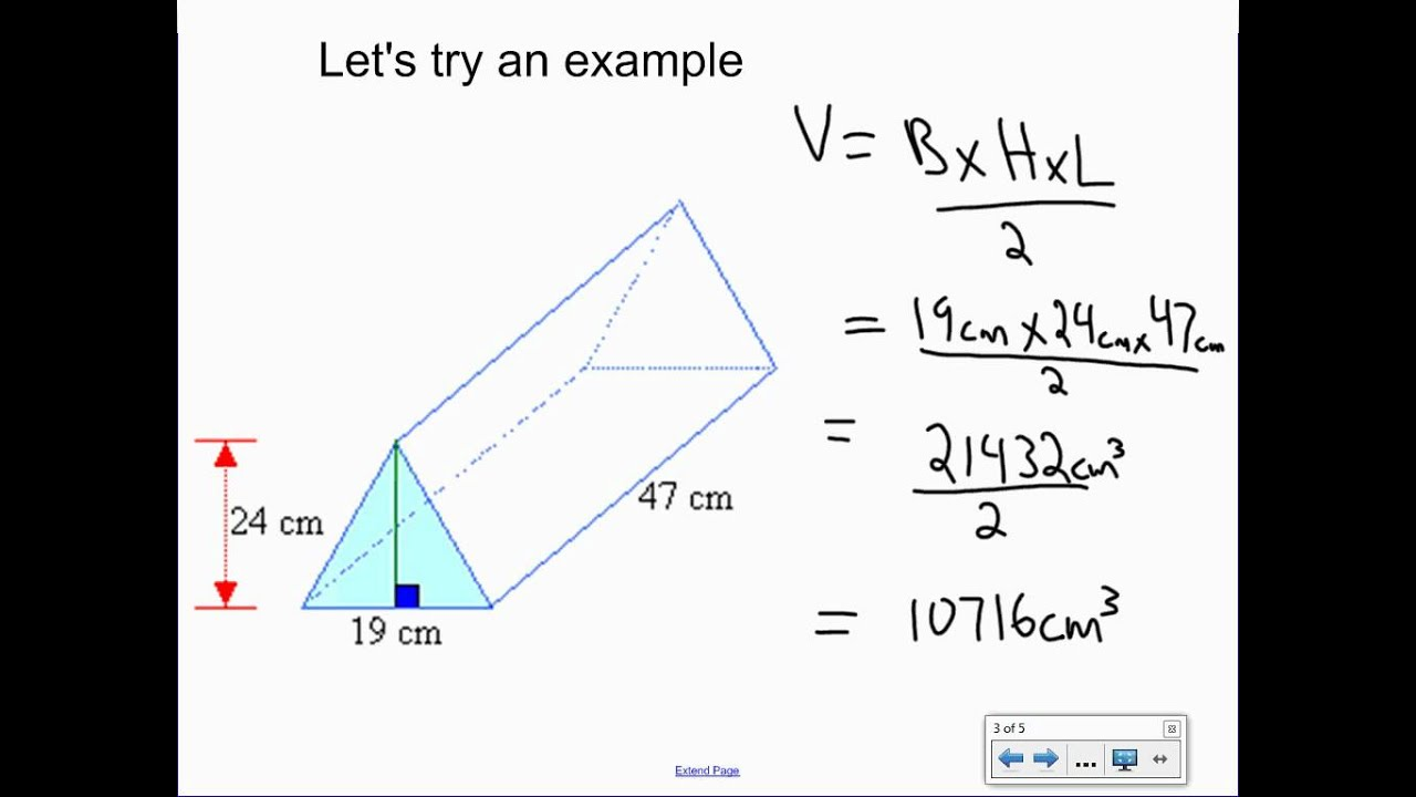 volume of a pyramid In this lesson, students will use formulas to measure the volume of a rectangular prism, a cylinder, and a square pyramid.