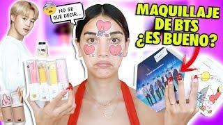 PROBANDO MAQUILLAJE COREANO DE BTS!! ¿VALE LA PENA?😰+ SORTEO! | Claudipia