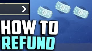 HOW TO REFUND SKINS in FORTNITE! (Fortnite Return Request) How to refund items in Fortnite.
