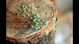 Видео МК по изготовлению шпилек с бусинами \How to Make Hair Vine Pin Comb Bridal Headpiece EASY DIY