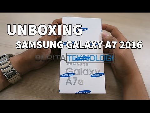 Samsung Galaxy A7 2016 Indonesia Unboxing