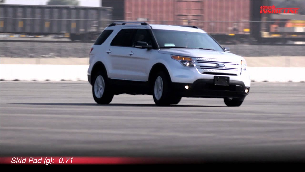 2012 Ford Explorer Xlt Ecoboost Track Test Video Inside Line Youtube Sport