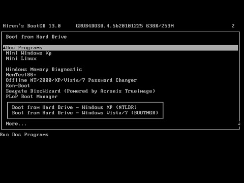 Guide  Partition your hard drive with Hiren's boot disk