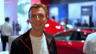 Tesla showcases the Model 3 electric car in Scottsdale