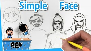 How to Draw Face & Hair for Beginners [*4 Ways] EASY Line by Line Step by Step