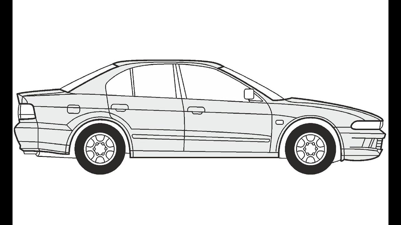 How to Draw a Mitsubishi Galant / Как нарисовать