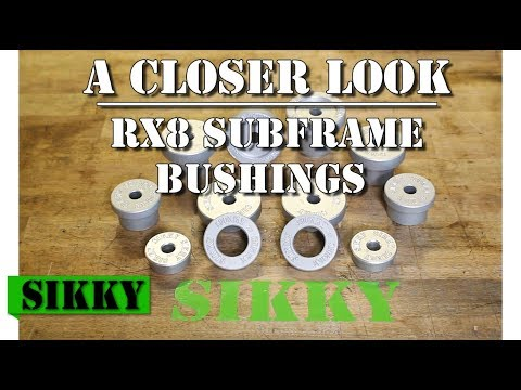Sikky Rear Subframe Bushing Set Stock Height for Mazda RX8