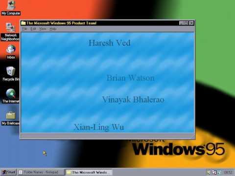 Windows 95 Easter Egg - Product Team