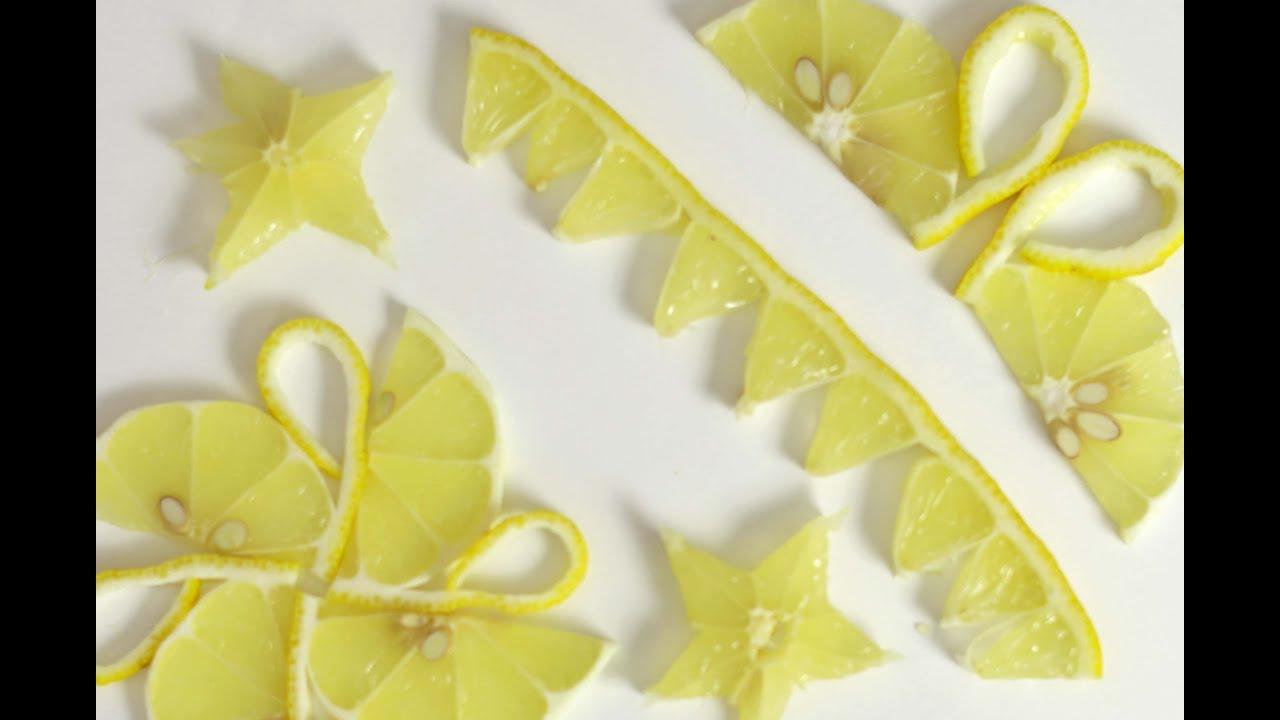 Lemon Garnishes - YouTube