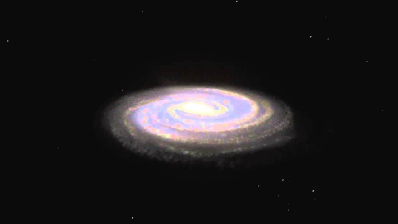 3d image of milky way galaxy