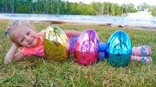 Песенки потешки для детей в пасхальных яйцах