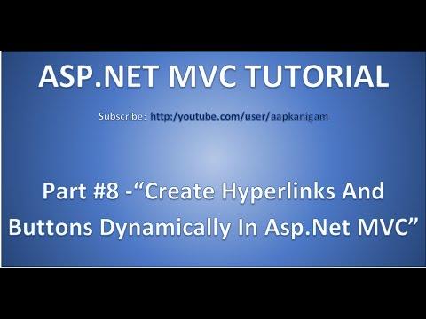 Part 8 - Generate HYPERLINKS Using ACTIONLINK Html Helper   ASP.NET MVC Application