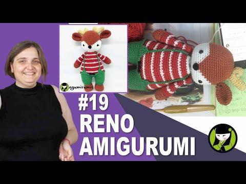 RENO AMIGURUMI 19 reno tejido a crochet
