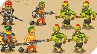ЛЮДИ не боятся ЗОМБИ - Игра Human vs Zombies a zombie defense game # 3 Зомби апокалипсис